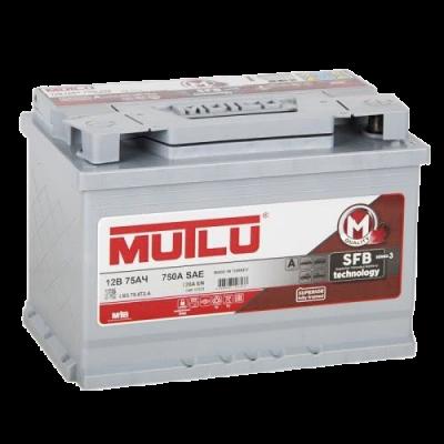 Аккумулятор MUTLU SFB 6ст-75 А/ч оп   720A  L3.75.072.A