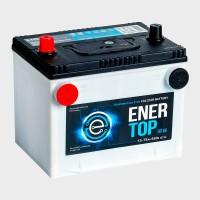 Аккумулятор ENERTOP Korea 6ст-75 пп  (75DT-650)  американский стандарт, 4 клеммы