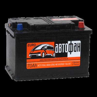 Аккумулятор АВТОФАН 6ст-70 (3) евро