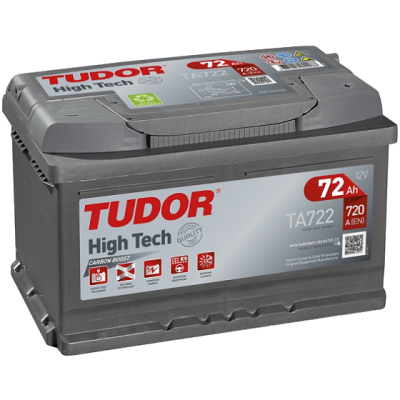 Аккумулятор TUDOR High-Tech 6ст-72 А/ч  оп  низкая  720A  TA722