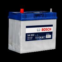 Аккумулятор BOSCH S40 220 45 А/ч п.п. яп. (545 157) тонкие ASIA