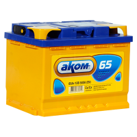 Аккумулятор АКОМ  6ст-65 VL  рос.