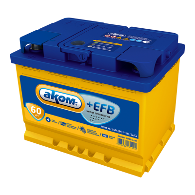 Аккумулятор АКОМ + EFB  6СТ- 60 рос