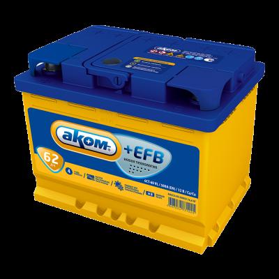 Аккумулятор АКОМ + EFB  6СТ- 62 рос