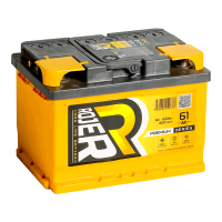 Аккумулятор ROJER Premium series 6ст-61 (0) евро низкий