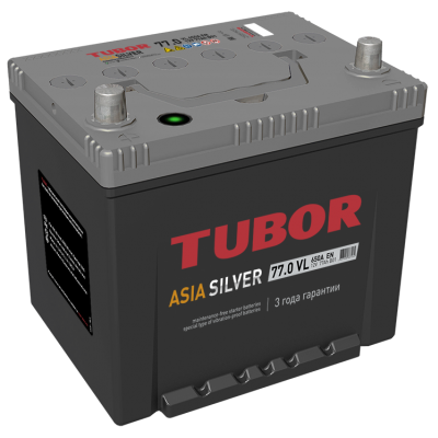 Аккумулятор TUBOR ASIA SILVER 6СТ-77.0 VL B01