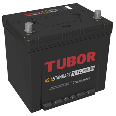 Аккумулятор TUBOR ASIA STANDART 6СТ-72.1 VL B01